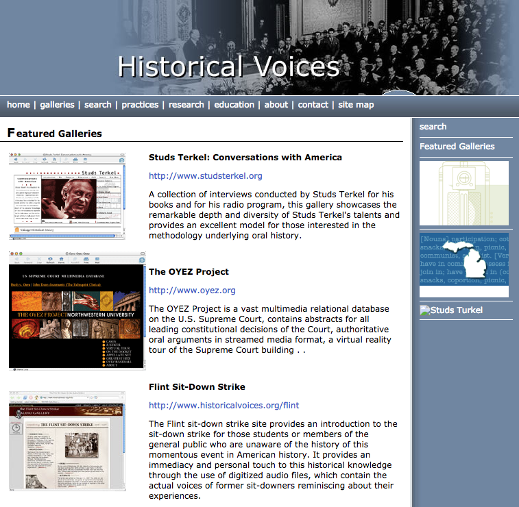 Historical Voices Imagery
